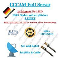 CCCAM Service 14 Months Dreambox vu + Sat und Kabel