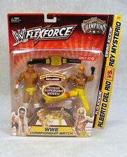 WWE FLEXFORCE CHAMPIONS ALBERTO DEL RIO VS REY MYSTERIO 2 FIGURE PACK TARGET EXC