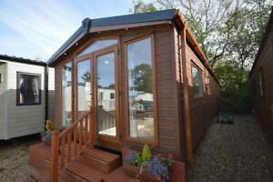 NEW Sunrise Lodge   Granny Annex   38x12 with 2 beds   OFF SITE Mobile Cabin
