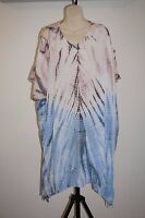Kaftan Dress Beach cover up Hippie Top Rayon One size casual Open shoulder  XL