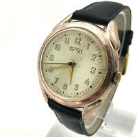 Vintage URAL Men's Wristwatch MOLNIJA Rare Big USSR Pink Gold Case Collectible