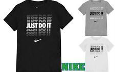 New 2018 NIike Junior Boys Cotton JDI Shadow Swoosh Just Do It T Shirt Age 7-15