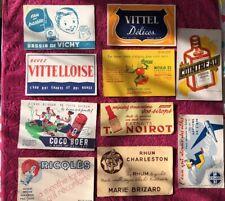 10 BUVARDS Rares Et Anciens Type Boissons Diverses .