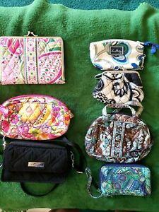 Vera Bradley Lot of 7 various Items ,Cosmetic, Credit Card ,Photo Holder