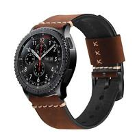 Genuine Leather Bands Strap for Galaxy Watch 46mm / Gear S3 Frontier Classic