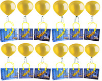 12 pcs Battle royal GAMER drop box Birthday Party Favor Goody Gift candy Bags