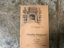 MACHINIST TOOL LATHE MILL VINTAGE Grinding Equipment Metal Working Book