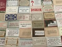 Lot of 40 VINTAGE old GREETING postcards ART CRAFTS Sayings MOTTO mottos-a698