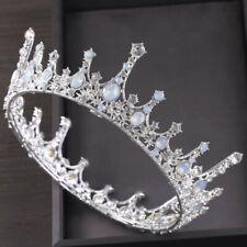 Baroque Bridal Jewelry Vintage Crystal Pearl Queen Crown Tiaras Headband