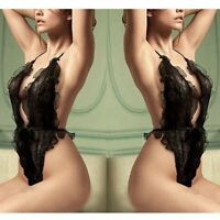 Womens Ladies Sexy Lace Open Bra Babydoll Teddy Lingerie Nightwear Underwear Hot