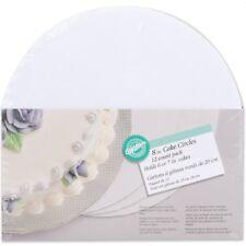 "Wilton 8 "" Circle Cake White Board Corrugated Cardboards Baking Decorating 12 Pk"