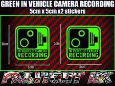 IN VEHICLE CAMERA RECORDING STICKERS X2 decal dash dvr car van bike truck bus G*