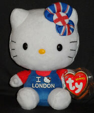 TY HELLO KITTY I LOVE LONDON BEANIE BABY - MINT with MINT TAGS - UK EXCLUSIVE