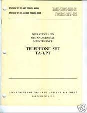 Telephone Set TA-1/PT, Operation and Unit Maintenance