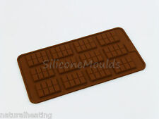 12 cell Miniature Chocolate Bar Silicone Mould decoration flexible cake toppers