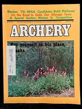 VINTAGE COLLECTIBLE Archery Magazine AUGUST 1976 Archery & Hunting