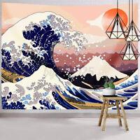 Janpanese Style Mount Fuji Printing Hanging Tapestry Wall Room Decor 200*150cm