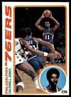 1978-79 TOPPS BASKETBALL SET BREAK CALDWELL JONES PHILADELPHIA 76ERS #103