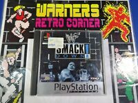 wcw smack down PlayStation PS1 Boxed W / manual  disc  PAL UK game