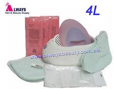 Kit 4L Paraffin Wax Bath Warmer +Brush +Booties +Mitts +50Bag +4 Block wax