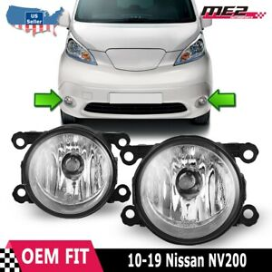 Fits 10-19 Nissan NV200 PAIR Factory Bumper Replacement Fog Lights Clear Lens