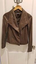 Vince Ash Scuba Leather Jacket, XS, VERY GOOD