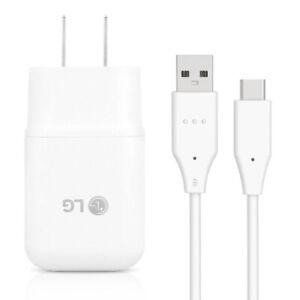 Original LG Rapid Fast USB Wall Charger Type C Cable For LG G6 G7 G8 V20 V30 V40