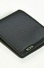 Tumi Alpha SLG Double Billfold Reflective Bright Lime Black Leather Wallet BOX