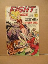 Fight Comics 65 Tiger Girl 1949 TRASHED COPY Fiction House Incomplete Rip Carson