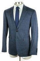 $1995 BURBERRY LONDON Millbank Travel Slate Blue Linen Wool Modern Fit Suit 40 R