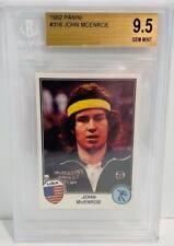 1981 JOHN McENROE RC BGS 9.5 GEM MINT PANINI SUPERSTARS - POP 2 (NONE HIGHER!)