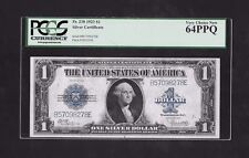 1923 $1 DOLLAR SILVER CERTIFICATE, FR#238, PCGS GRADED VERY CHOICE NEW 64PPQ