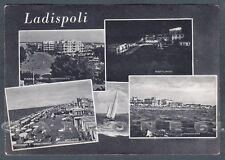 ROMA LADISPOLI 16 VEDUTINE Cartolina viaggiata 1956
