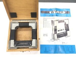 "EXCELLENT!  Swiss 6"" Wyler Precision Frame Level 0.0005"" per 10"" Fowler Tesa A58"