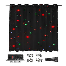 USED 3X2m LED Stage Star Backdrop Cloth Wedding Curtain Starry Sky Background