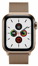 Apple Watch Series 5 40 mm Case with MilaneseLoop - Gold-Tone Stainless Steel (GPS + Cellular) (MWX72X/A)