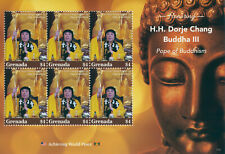 More details for grenada 2021 mnh dorje chang buddha iii stamps pope of buddhism religion 6v m/s