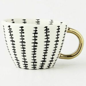 Ceramic Coffee Mug Gold Handgrip Handmade Tea Cup Home Decor Creative Irregular