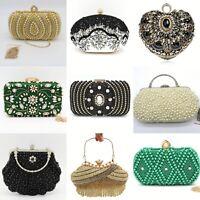 Christmas Party Rhinestones Handbags Crystal Clutches Wedding Purse Womens Bags
