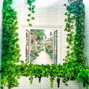 82ft Artificial Grape Ivy Leaf Garland Plants Vine Fake Foliage Decoration#SOH
