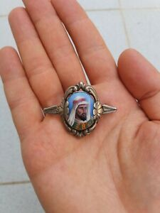 Vintage Antique Silver and Enamel Hand Made Brooch