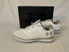 New! Women's Under Armour Ua Fade Rst Golf Cleat Shoe Sz 9 White 3000221-102