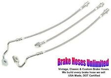 """STAINLESS BRAKE HOSE SET International Scout II, with 4"""" lift - 1980"""