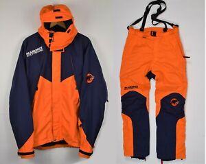 Mammut Extreme Mens Jacket Pants Suit L Orange Blue Snow Ski
