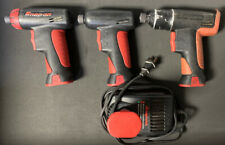 "3 Used Snap-on 7.2V CTS561CL 1/4"" ScrewDrivers & 4 Batteries, Charger"