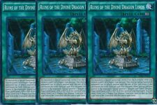 3 x Ruins of the Divine Dragon Lords - SR02-EN024 - Super Rare YUGIOH