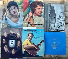 5 x Das klingende Autogramm Lot,60er,Conny,Fred Bertelmann,Westfalenhalle,Biem45