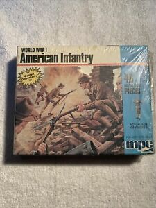 MPC HO/00 Scale World War I American Infantry Plastic Figures 1-6020 92 Pieces