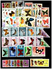 World Butterflies Selection Stamps. Mtd/Mint/CTO. #497