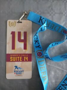 KENTUCKY DERBY 2021  HORSE RACING- WINNER'S CIRCLE OWNERS PASS & LANYARD- RARE!